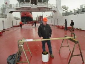 David Mietla on Wolfe Islander Ferry